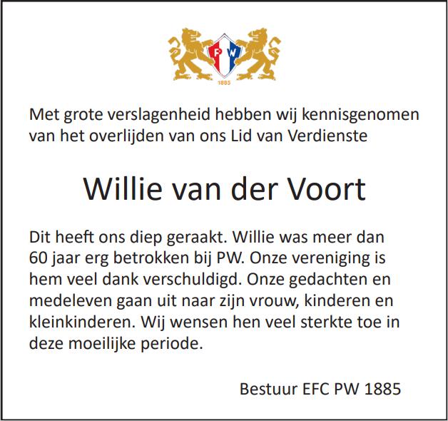 In herinnering: Willie van der Voort